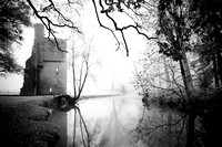 Minster Lovell Ruins Winter Morning-BW