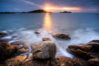 Sunset on the island of St Martin's Isles of Scilly
